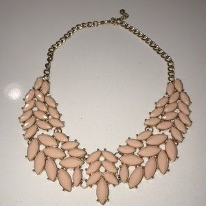 Gold Beautiful Necklace With Pink Details